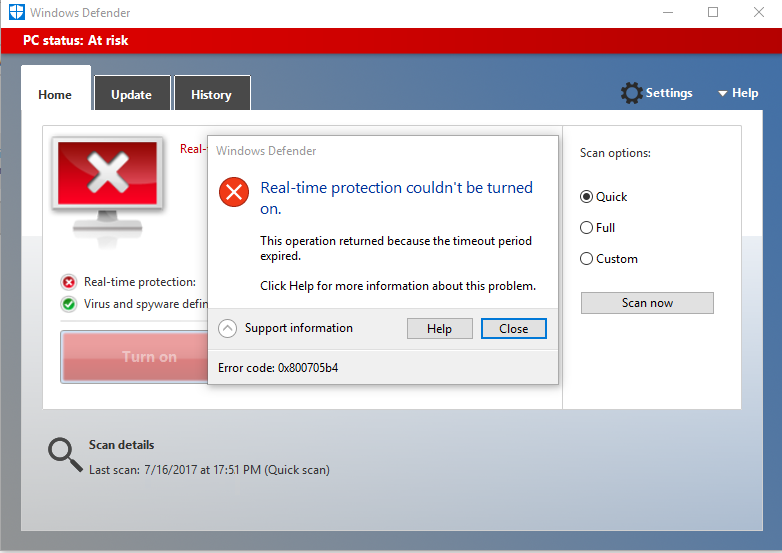 Fix Windows Defender not working