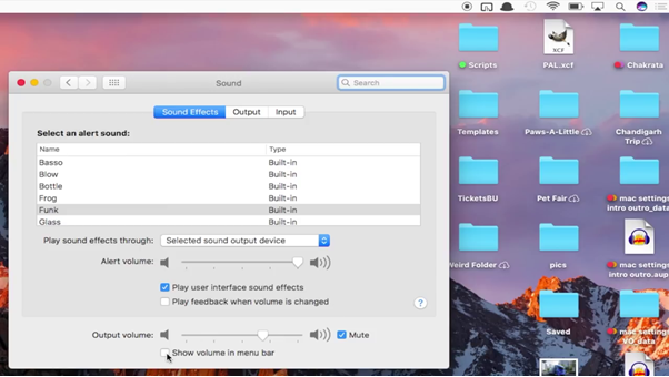 configure Mac settings