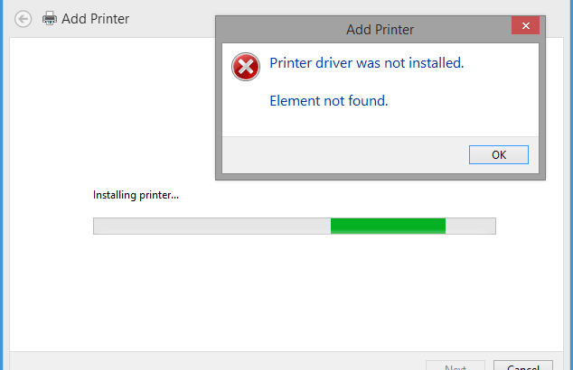 Printer Driver Package Cannot be Installed
