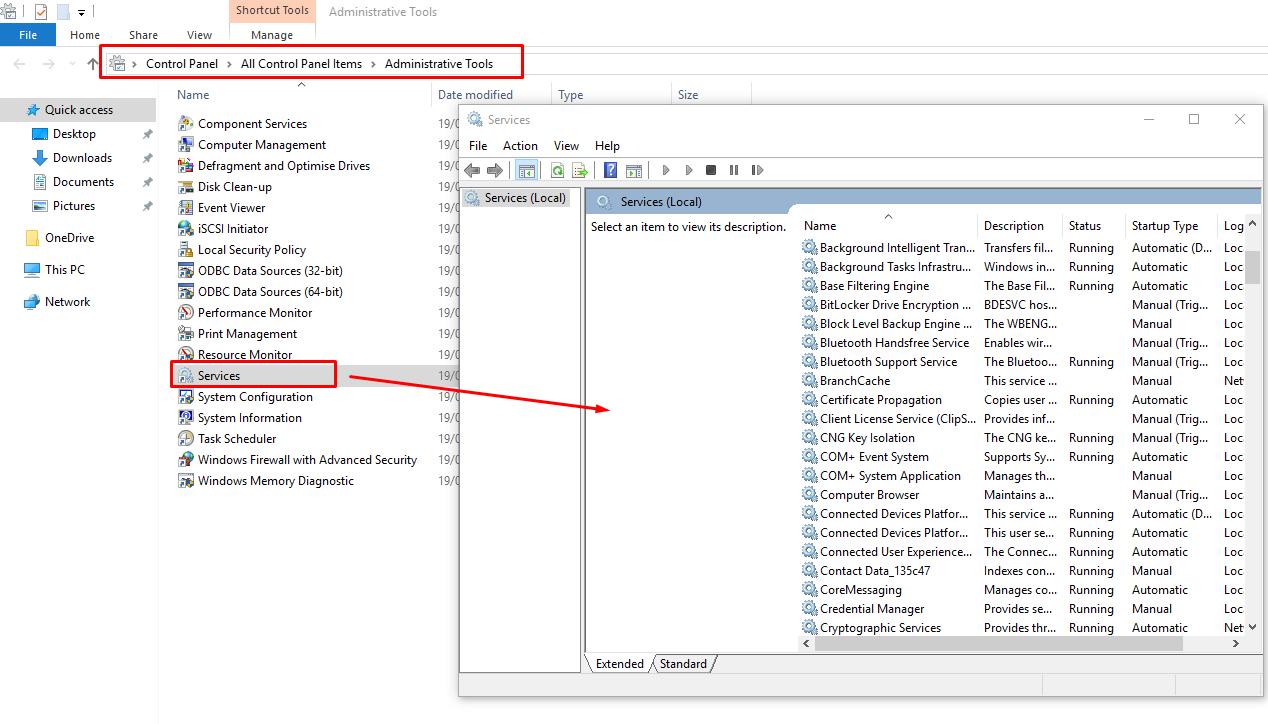 Fix Error code 0x80070422 on Windows 10