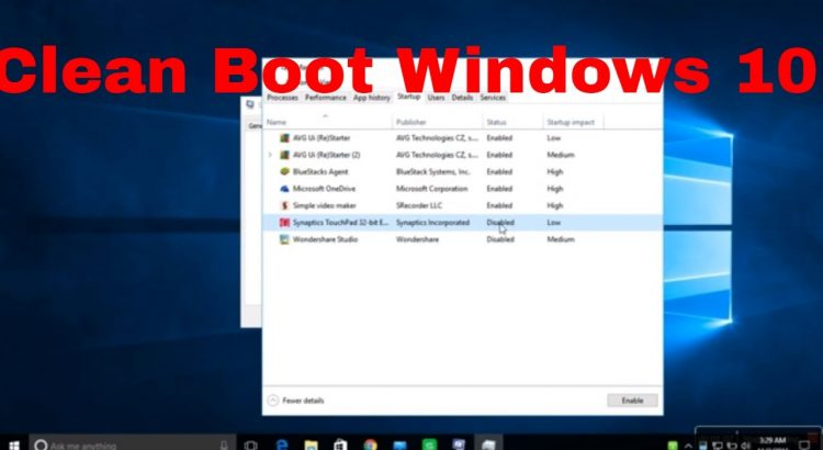 Perform clean boot