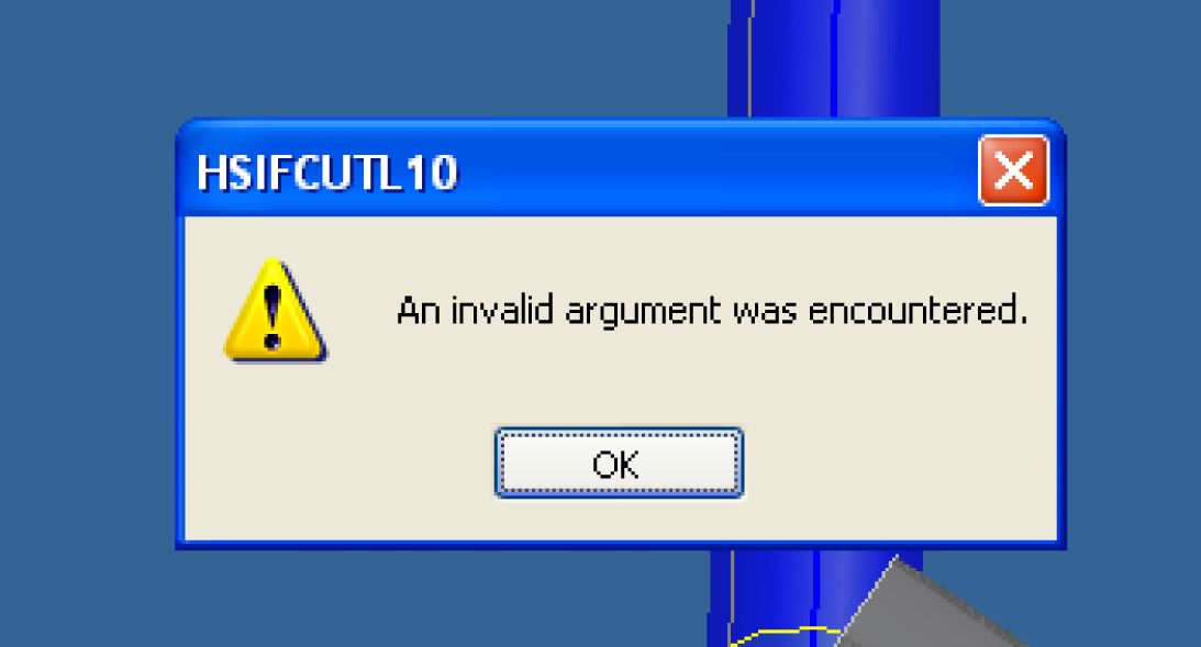 fix Invalid Argument was encountered