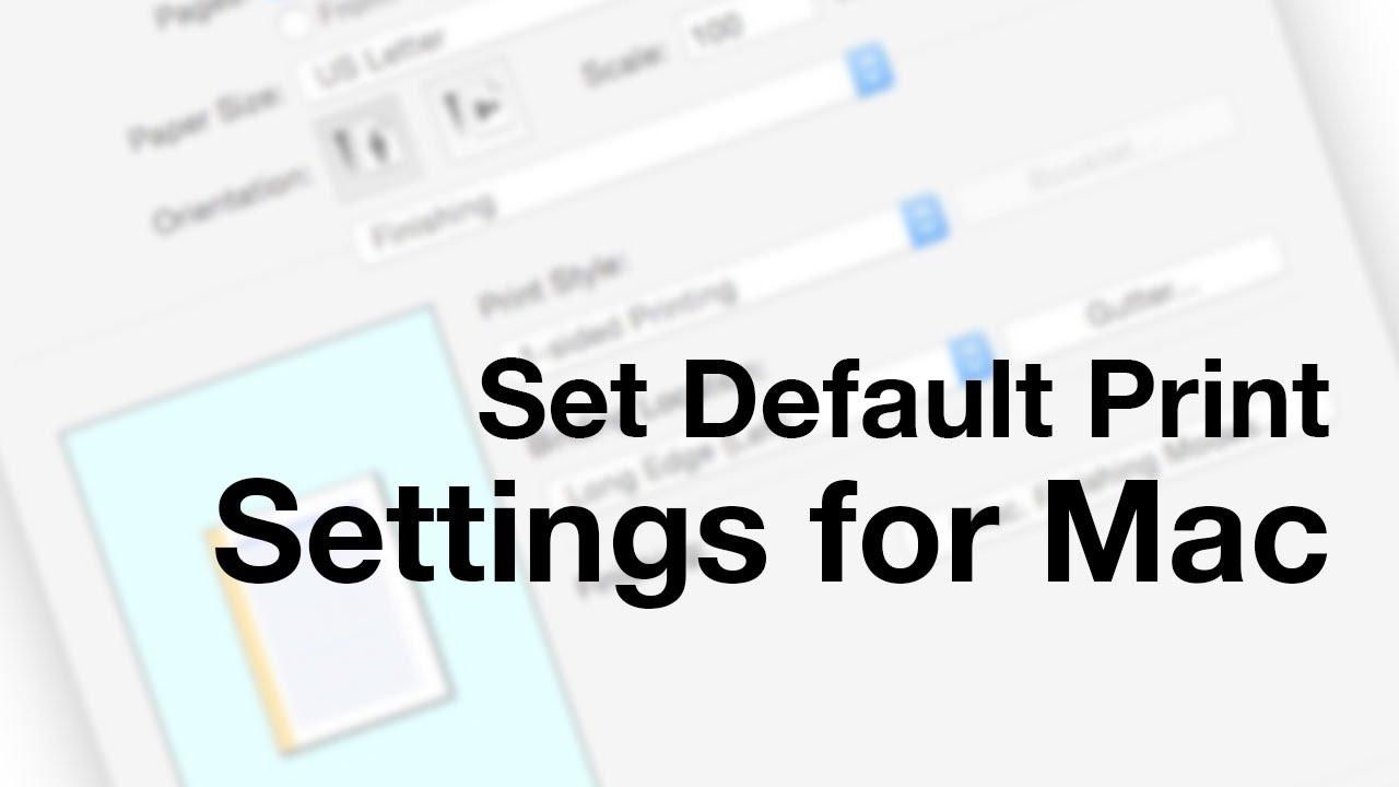 Setting default printer Mac OS X