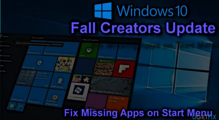 Apps missing in Windows 10 creators update
