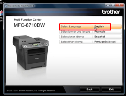 Setup wireless network for Brother Printer