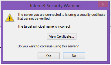 Internet security warning issue in Outlook
