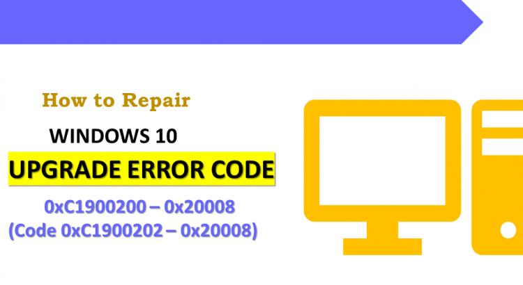 Fix Windows 10 Upgrade Error Code 0xC1900200