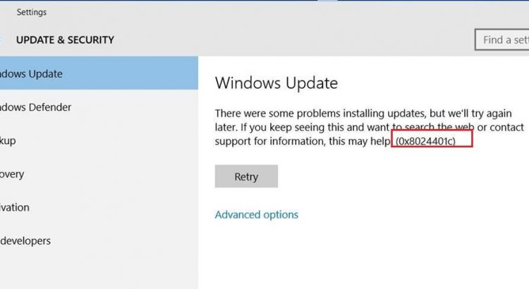 Fix Windows 10 Update Error Code 0x8024401c