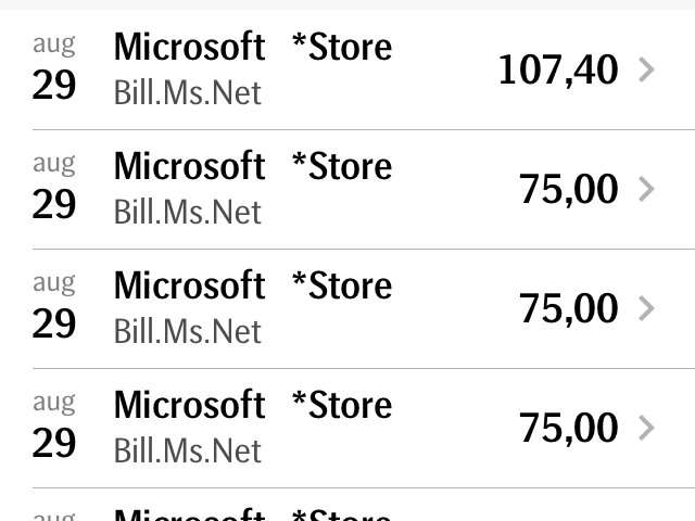 Charges MICROSOFT ONLINE BILL.MS.NET